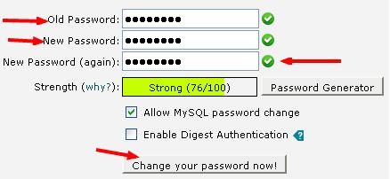 آموزش تغییر رمز عبور کنترل پنل هاست cPanel